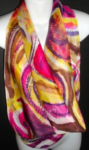 Hand Painted Silk Scarves