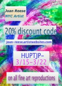 NYC Artist Joan Reese Offers Limited Discounts